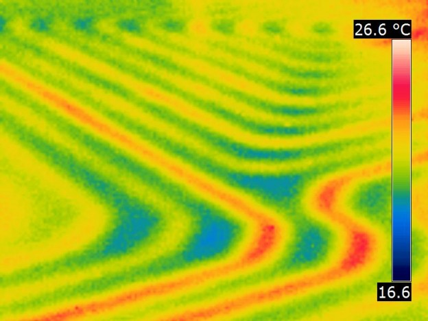 Analyse thermographique d'un réseau encastré ou enterré par camera infrarouge