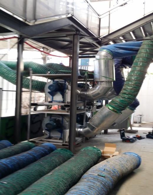 Nourrice de ventilation gros débit avec silencieux intégrés